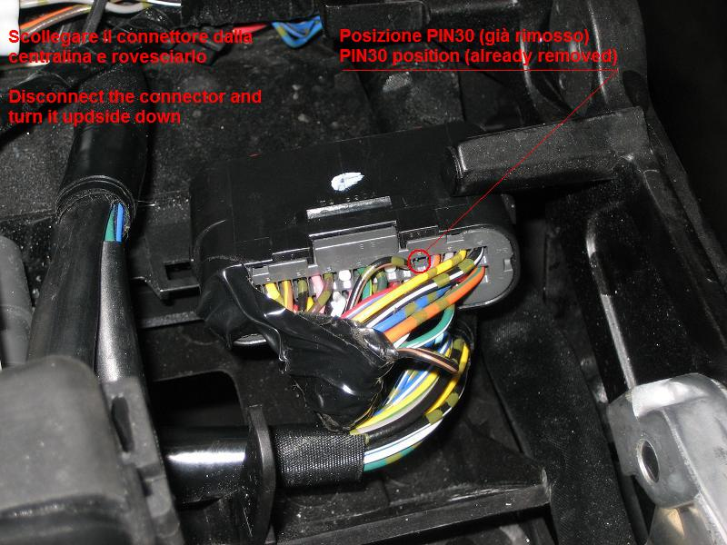 rimozione pin30 su gsxr600 750 k6 k7